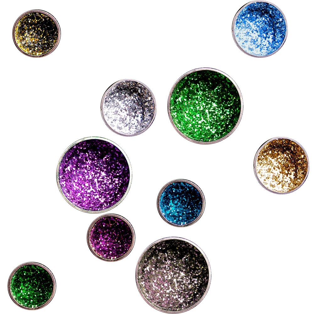 jeannette jansen jewellery, brooches, glitter, all rainbow colors