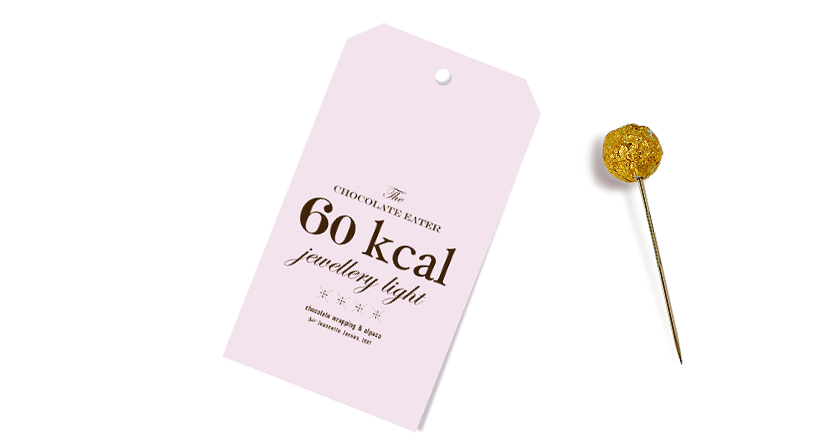 jeannette jansen jewellery, the chocolate eater jewellery, pin, gold, chocolate,