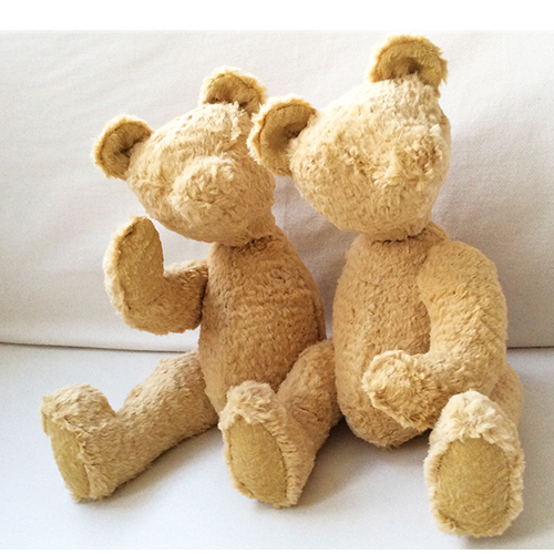 siamese friends, twins, teddy bears, jeannette jansen jewellery