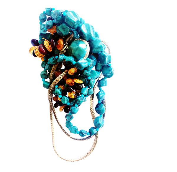 Broken Necklace // Brooches